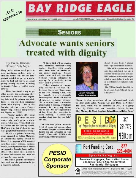 pesid advocat for seniors