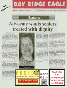 PESID Advocate Wants Seniors treated with Dignity